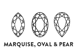 Marquise, Oval & Pear